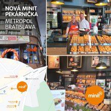 Nová MINIT pekárnička v Metropole Bratislava