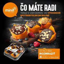 Muffin 4x - spotrebiteľské balenie